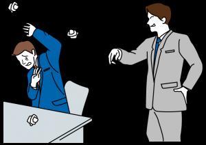 パワハラの身体的な攻撃イメージ図